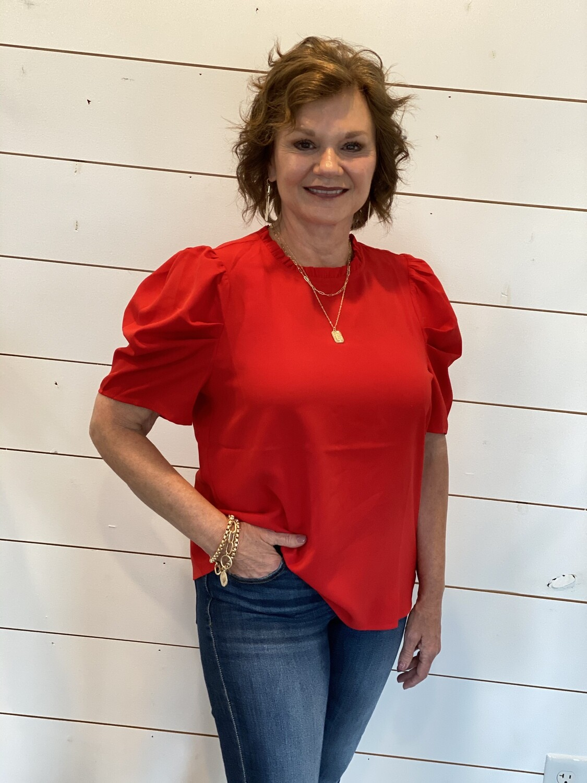 Savanna Jane Red Blouse