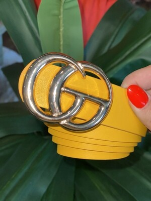 Yellow Shiny Gold Belt