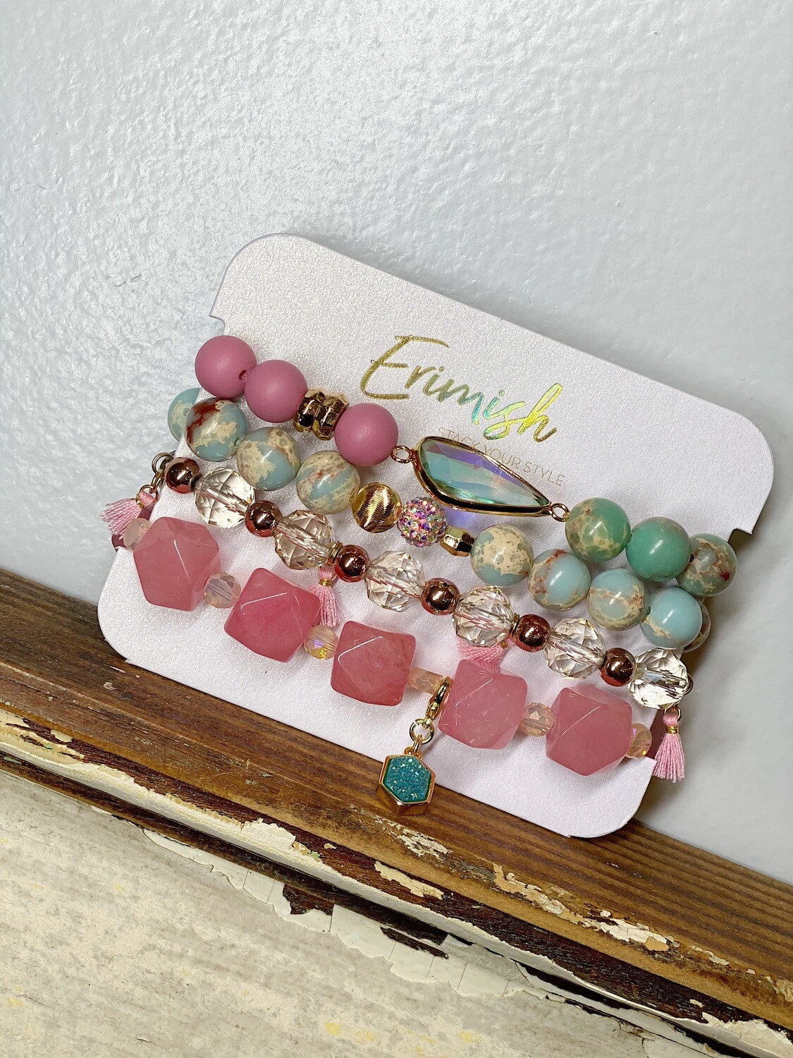 Erimish Pink Candy Carded Stack