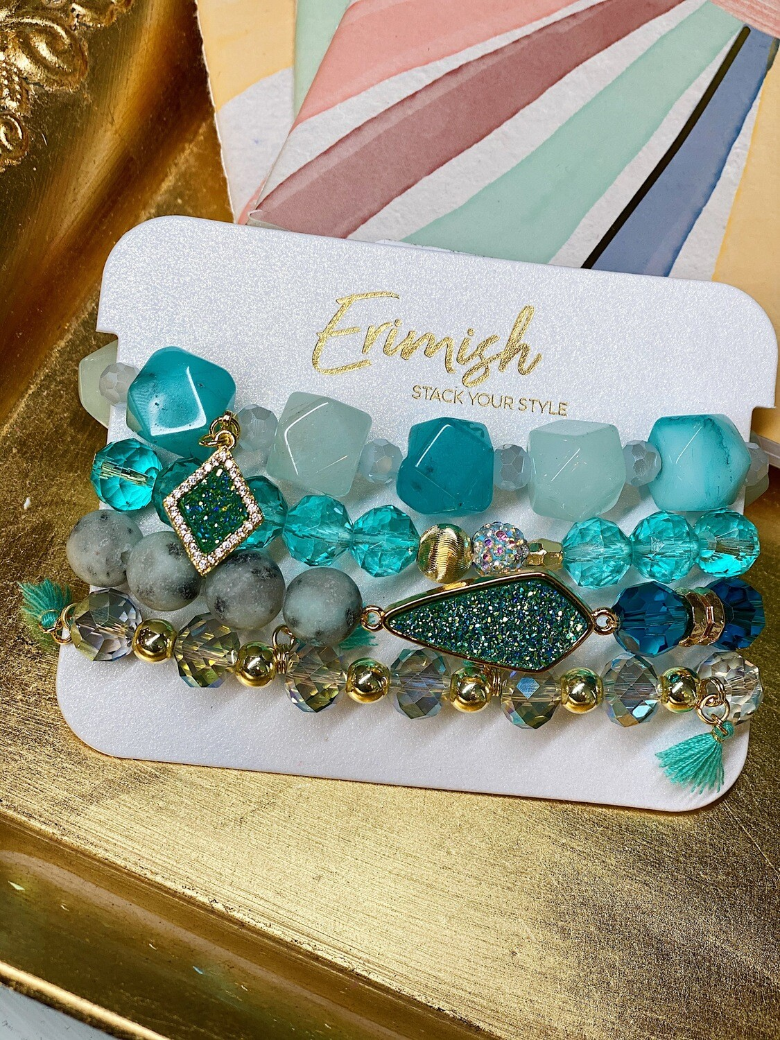 Erimish Turquoise Candy Carded Stack