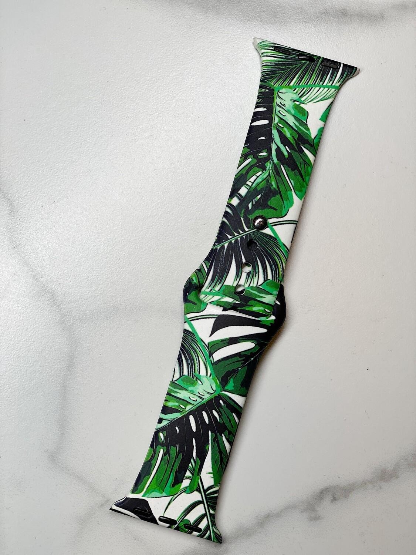 Green Palms Watch Band