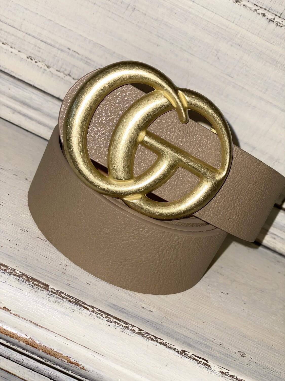 Taupe Matte Gold Belt