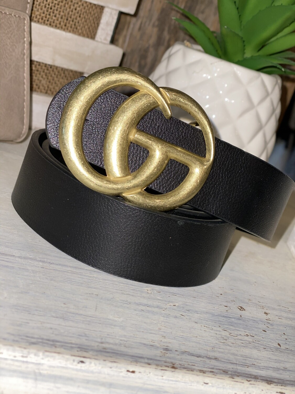 Black Matte Gold Belt