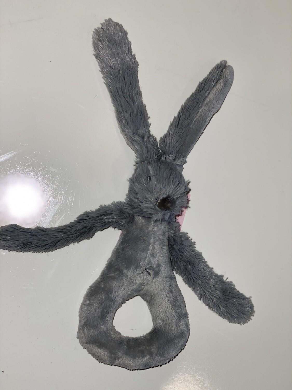 Gray Rabbit Bunny Rattle