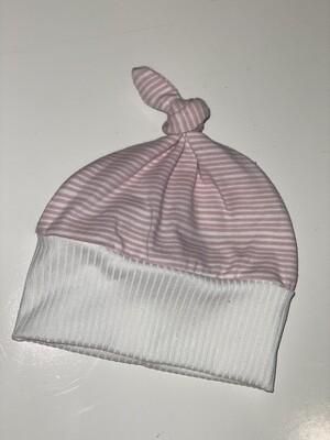 Gray Rabbit Striped Hat