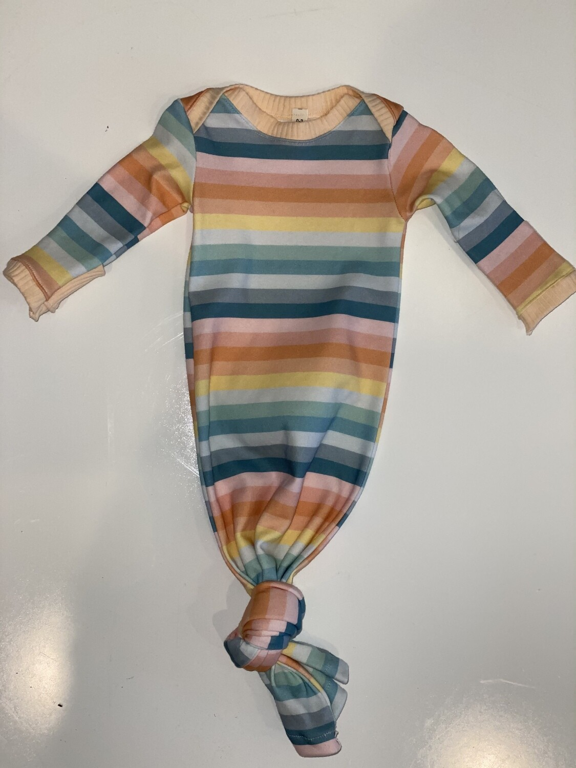 Gray Rabbit Spring Striped Layette Gown