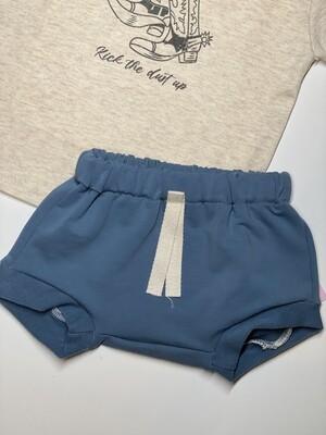 Gray Rabbit Stone Blue Shorts
