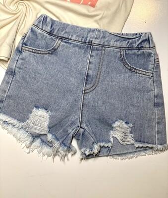 Gray Rabbit Denim shorts