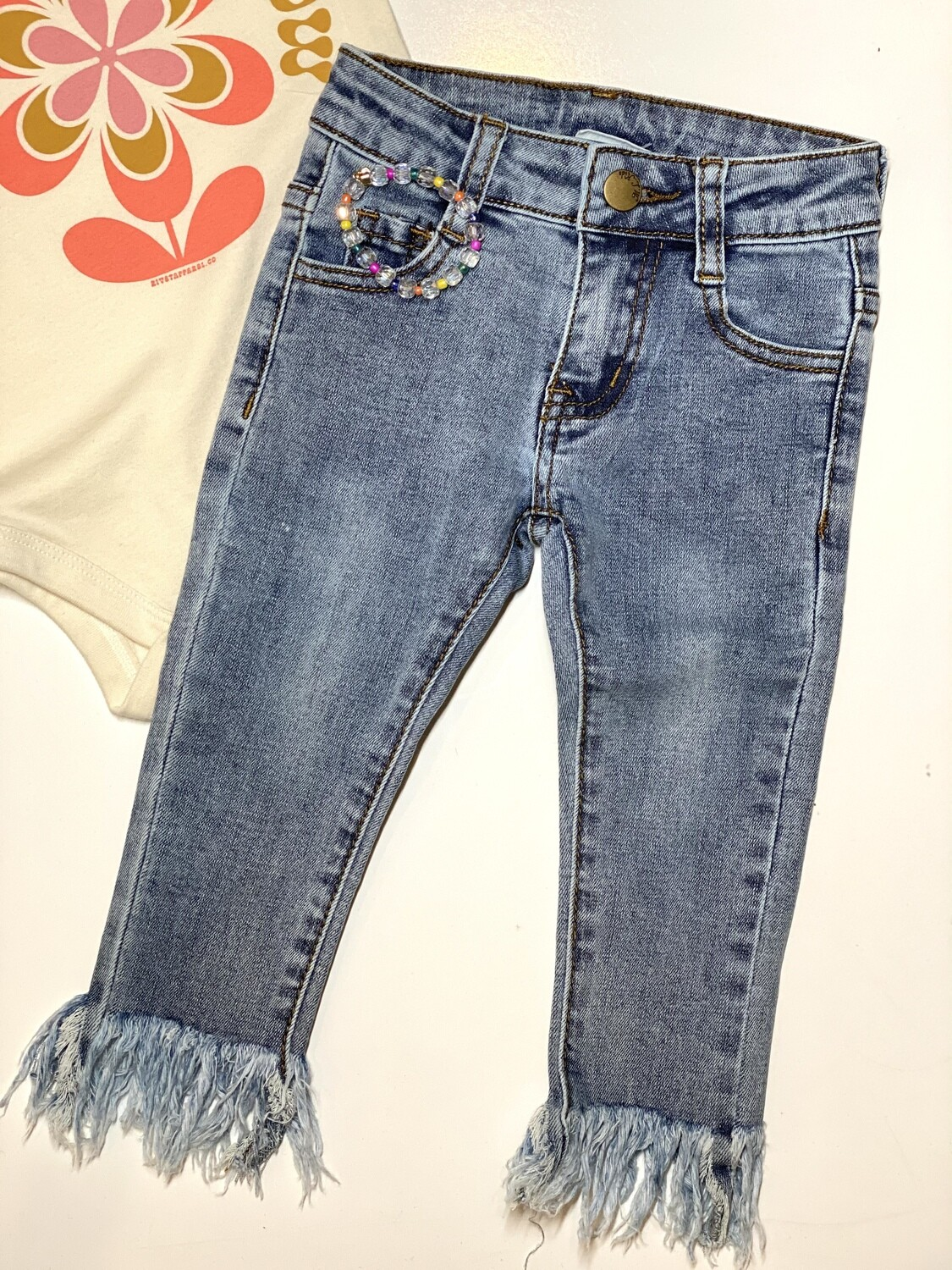 Gray Rabbit Light Washed Jeans