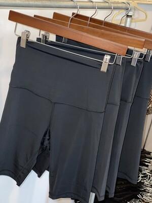 Black High Waisted Biker Shorts