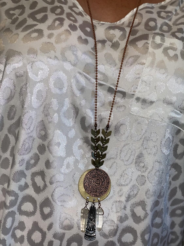 Copper Medallion Necklace
