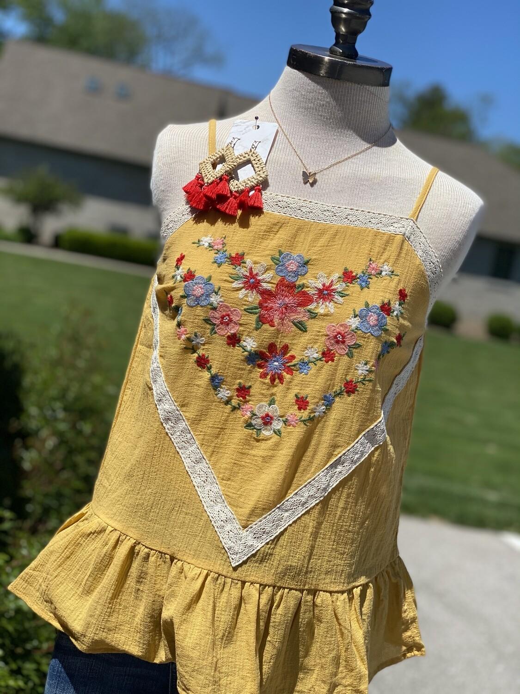 Savanna Jane Marigold Embroidered Cami
