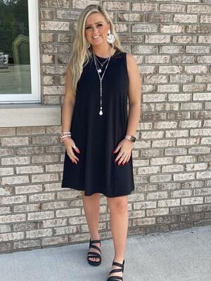 Black Sleeveless Soft Dress