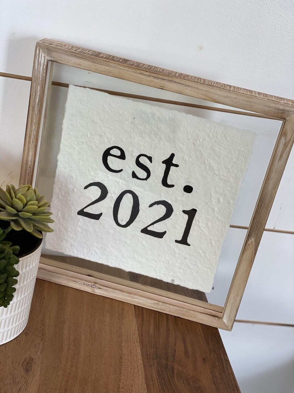 Est. 2021 Glass Plaque