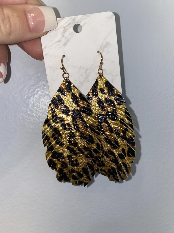 It's Metallic Leopard Earrings