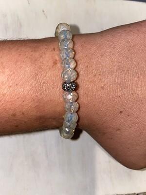 Clear Sparkle Beaded Bracelet