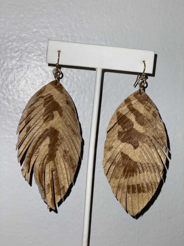 Fame Leather Animal Fringe Earrings