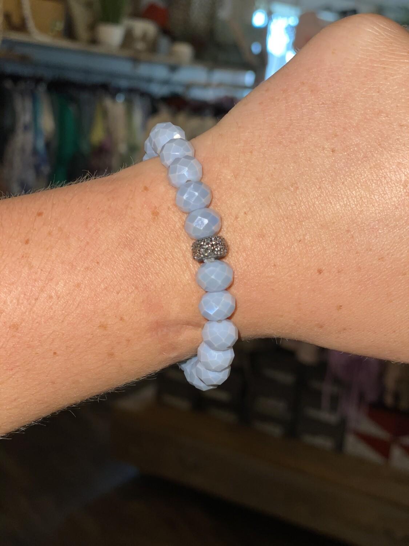 Lavender Sparkle Bead Bracelet