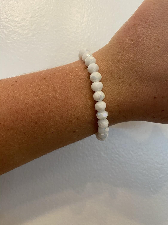 White Sparkle Bead Bracelet