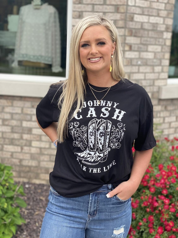 Johnny Cash Walk The Line Tee