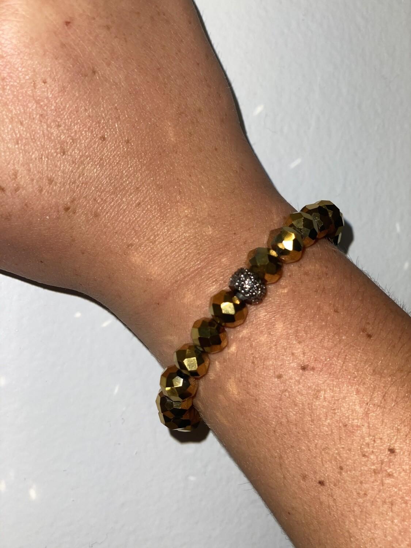 Gold Sparkle Beaded Bracelet