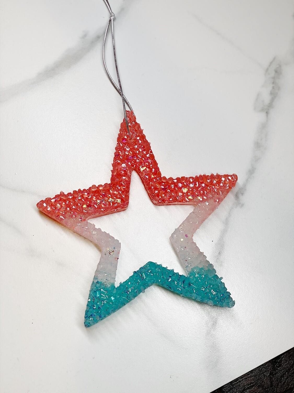 Tri Colored Star (Starblast) Car Freshie
