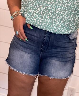 Judy Blue Dark Washed Shorts