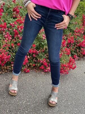 Dark High Waisted Skinny Jeans