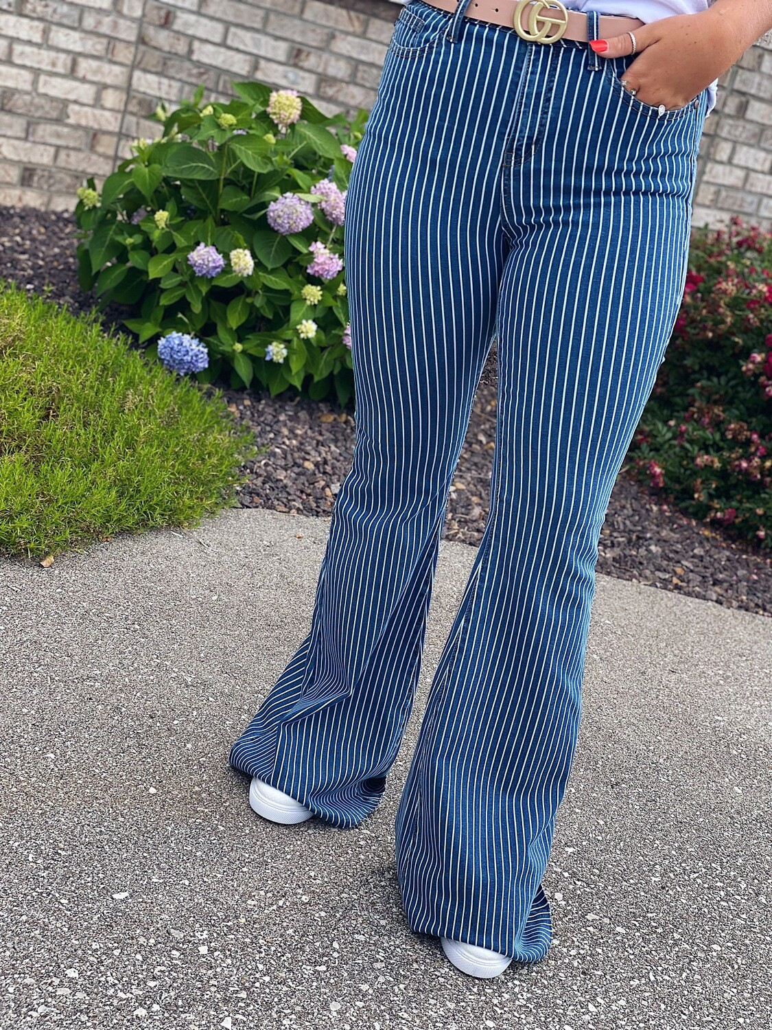 Judy Blue Pin Striped Flares