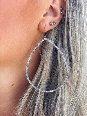 Dainty Rhinestone Teardrop Earrings