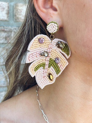 Light Pink Palm Earrings
