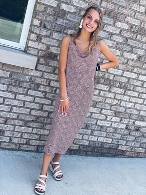 Animal Print Long Cami Dress
