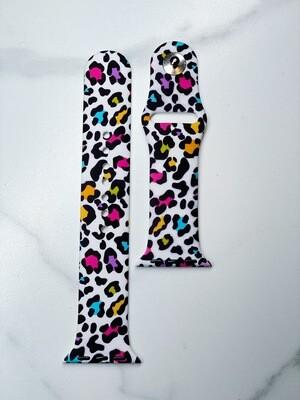 Multi Colored Cheetah Watch Band