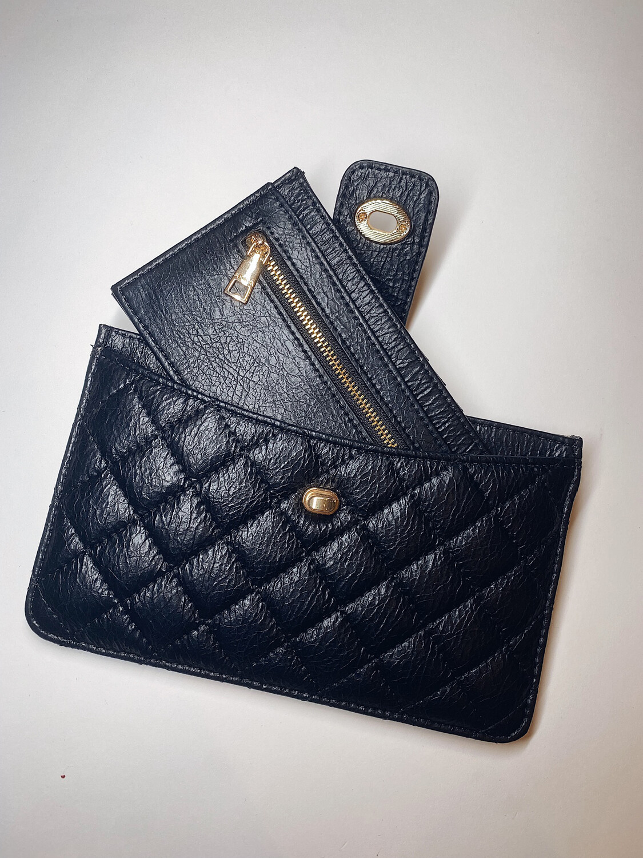 Black Sara 2-in-1 Wallet/Clutch