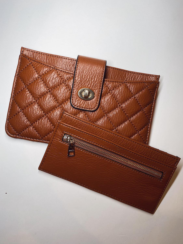 Brown Sara 2-in-1 Wallet/Clutch