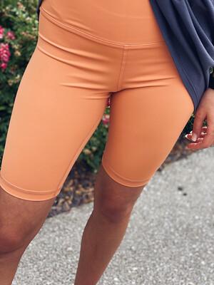 Apricot High Waisted Biker Shorts
