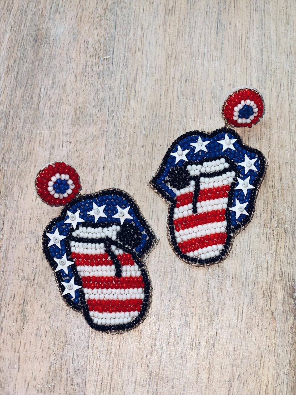 USA Mouth Earrings