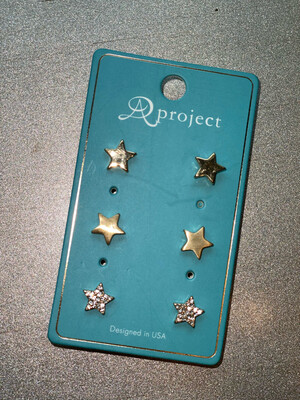 Gold Star Studs 3 Pack