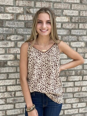 Taupe Cheetah Dot Cami