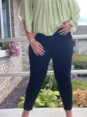 Judy Blue Black Mid-Rise Destroyed Slim Fit Jeans