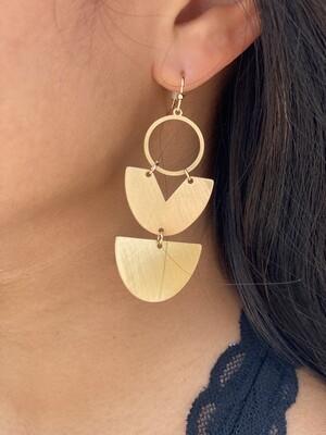 Gold Triple Tiered Earrings