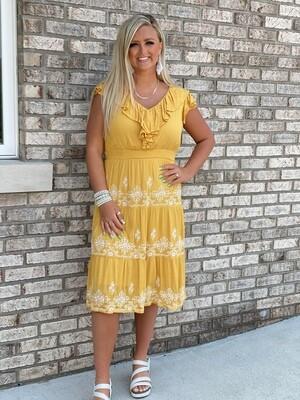 Savanna Jane Marigold Embroidered Dress