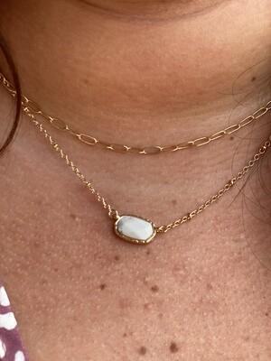 White Rosetta Necklace