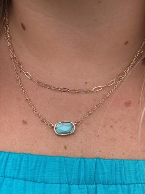 Turquoise Rosetta Necklace