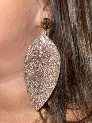 Pink Jewel Post Earrings