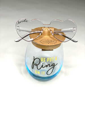 He Put A Ring On It Wine Glass Set