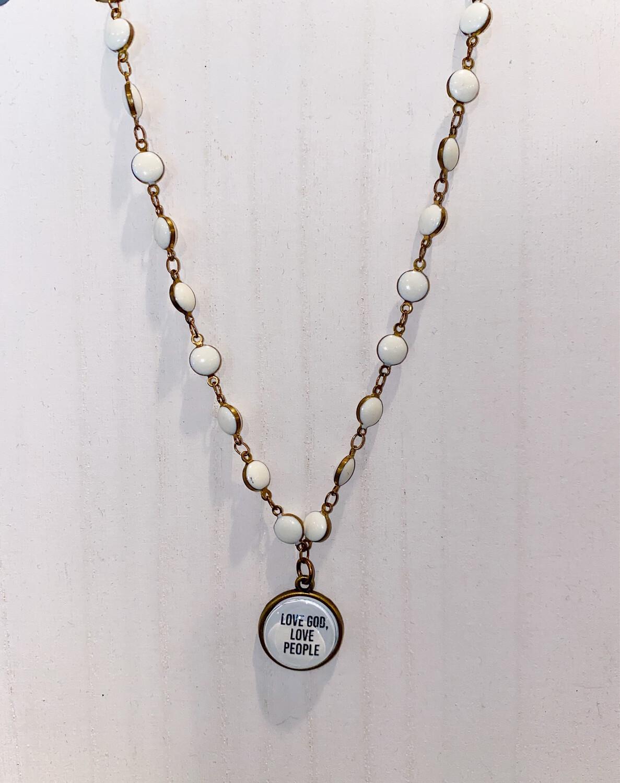 Love God Love People Necklace