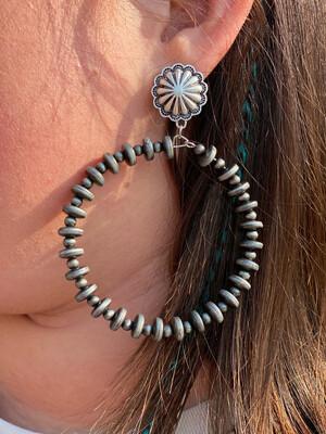 Navajo Beaded Hoop Earrings