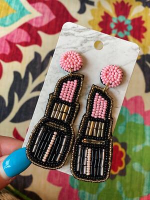 Light Pink Lip Stick Earrings