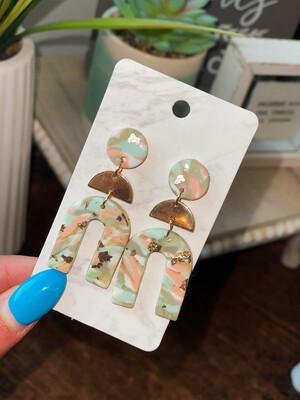 Mint Mix Clay Earrings